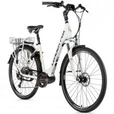 """E-bike Leader Fox SAGA CITY 28"""", 2019-2 18"""" WHITE MATT"""