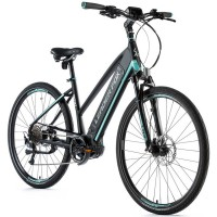 "Cross E-bike Leader Fox BEND lady, 2020-1 18"" BLACK MATT/LIGHTGREEN"